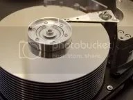 old opened hard disk drive