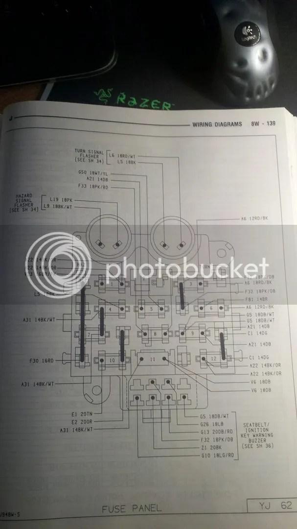 1994 Chevy Fuse Box Diagram Rear View