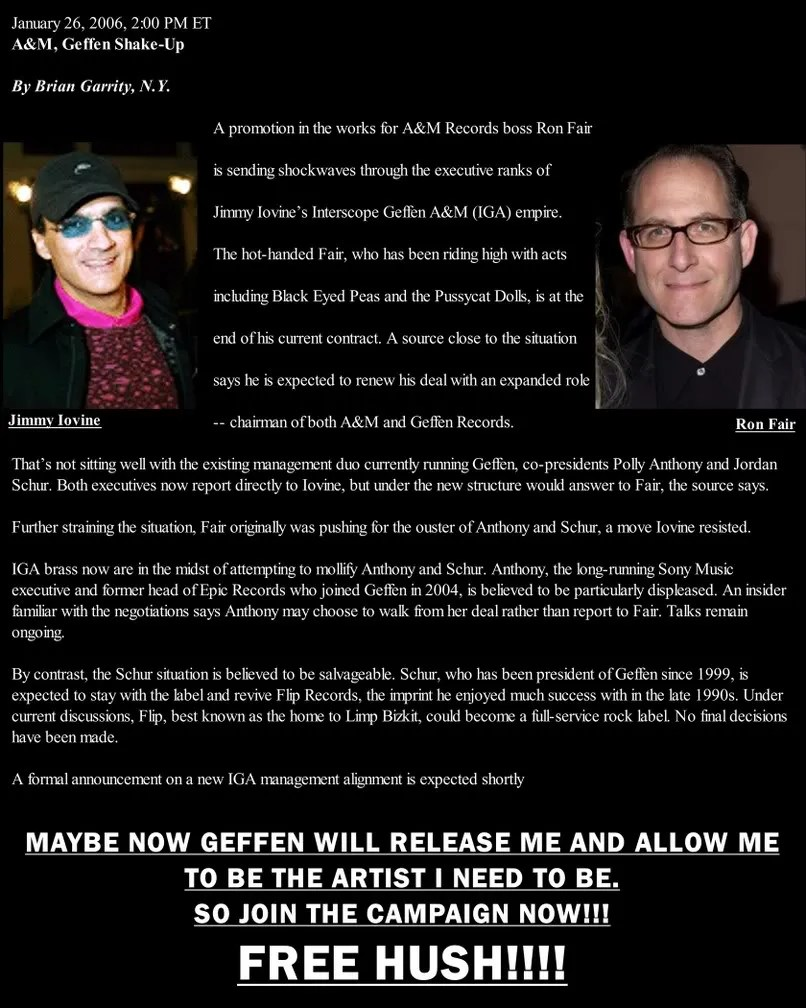 Pictures of eminem and kim mathers kim wedding eminem kim car tuning - Hush Needs Your Support This Is The Two Faced Game Geffen Is Playing With Him