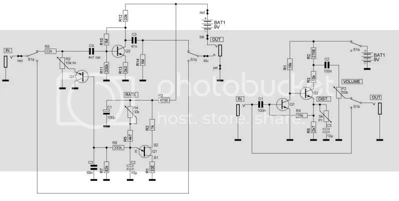 Vox RepeatPercussion V809/ Distortion Booster V8162 in