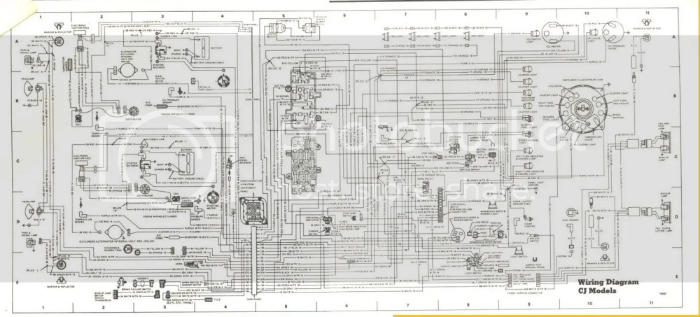 medium resolution of 1986 jeep cj7 wiring diagram schematic wiring diagrams jeep grand wagoneer spinnaker blue 1978 jeep cj7