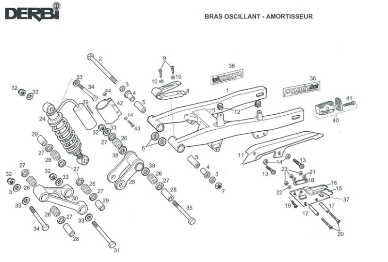Bras Oscillant Derbi. bras oscillant derbi 50 drd sm 2006