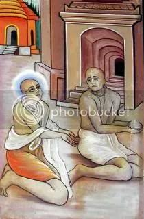 Lord Chaitanya begs prasad from Raghunatha das Goswami