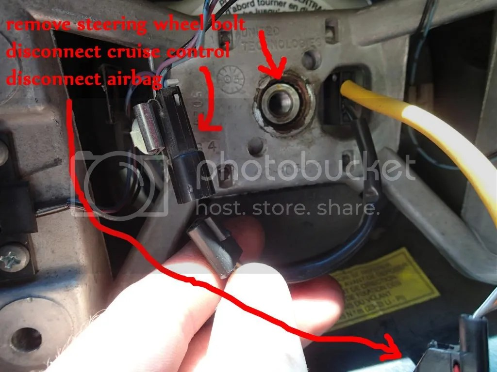 hight resolution of remove the steering wheel bolt 15mm and disconnect the 2 electrical connectors pictured nothing else needs to come apart in the steering wheel itself