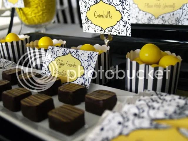 Kara S Party Ideas Black White Amp Yellow 60th Birthday