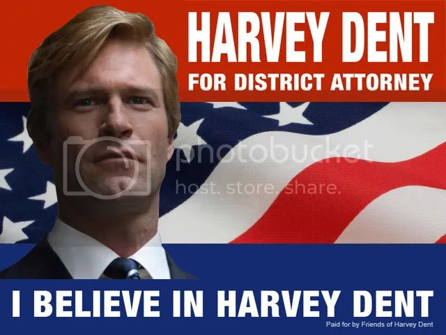Harvey Dent is running for the post of district attorney of Gotham City.