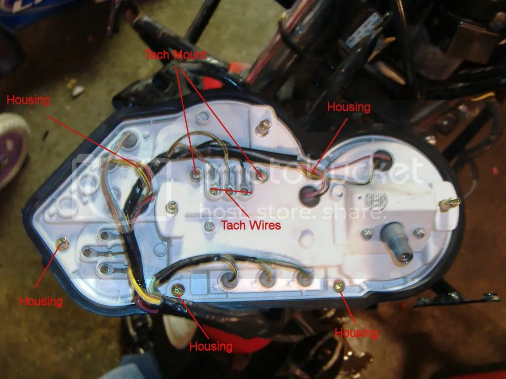 hight resolution of remove the two tachometer housing screws