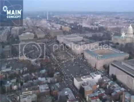 Inauguration From a Balloon at 400 Ft.