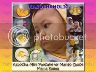 Kabocha Pancake with Mango sauce