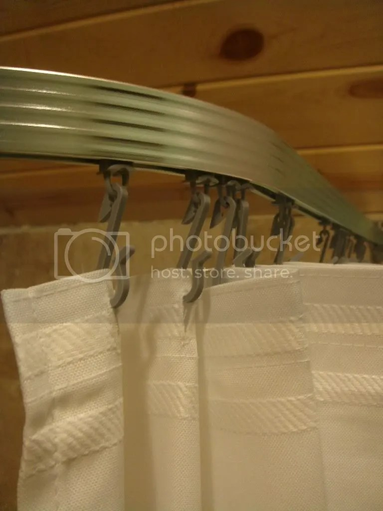 Corner Shower Curtain Rod Clawfoot Bath Tub Curved L On