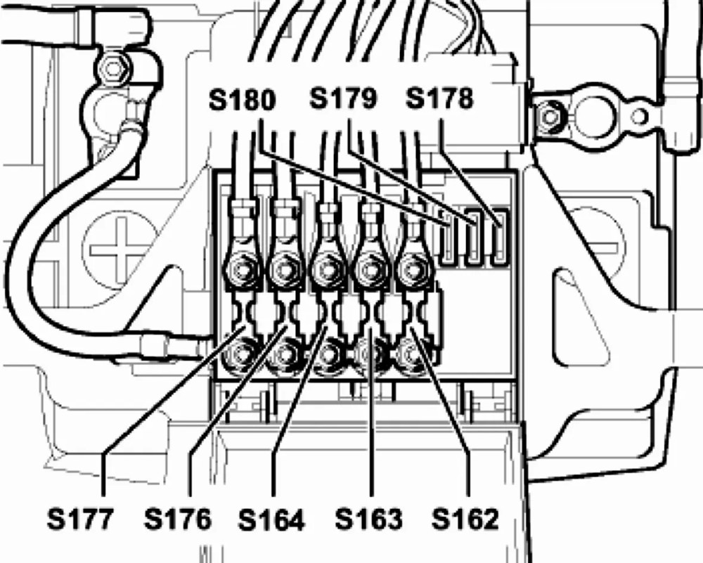 medium resolution of to the cars left there are three blade fuses called s178 s179 and s180