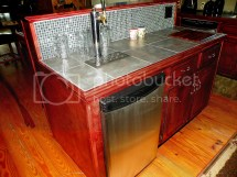 Home Bar with Kegerator Built