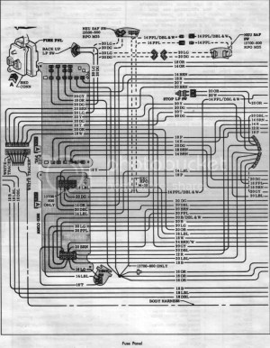 1966 Wiring SchematicsDiagramsLampsFuses  Chevelle Tech