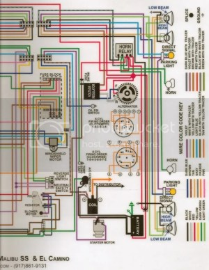 1966 Wiring SchematicsDiagramsLampsFuses  Chevelle Tech