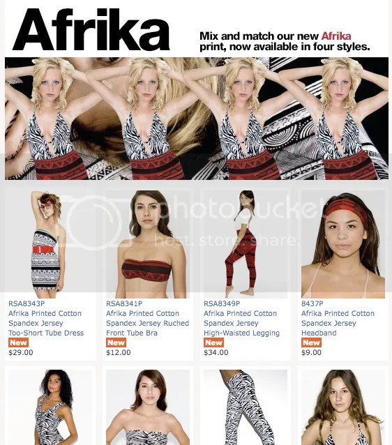 Afrika with a K - now in fashion.