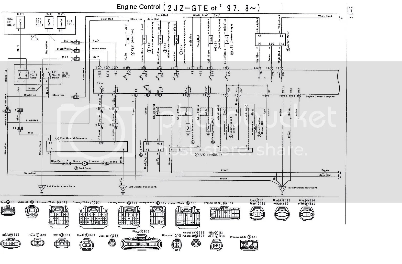 2jzgte Vvti Wiring Diagrams And Ecu Pinouts