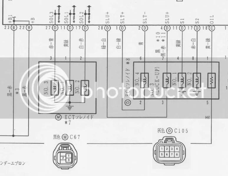 JZZ30 A340 solenoid wiring diagram