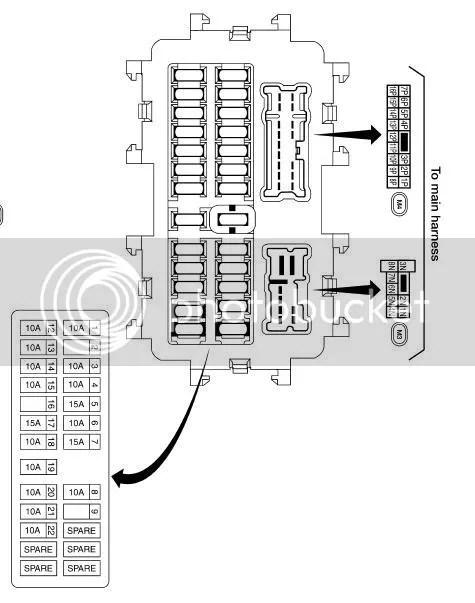 2005 Nissan Xterra Fuse Panel. Nissan. Auto Fuse Box Diagram