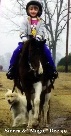 Sierra riding Magic