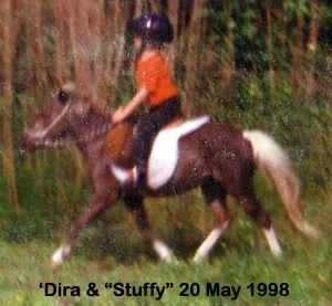 'Dira riding Stuffy at LP Painted Ponys - Parkton, NC - 1998
