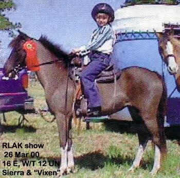 Sierra riding Vixen