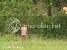 Child in field (c) Lynda Bernhardt