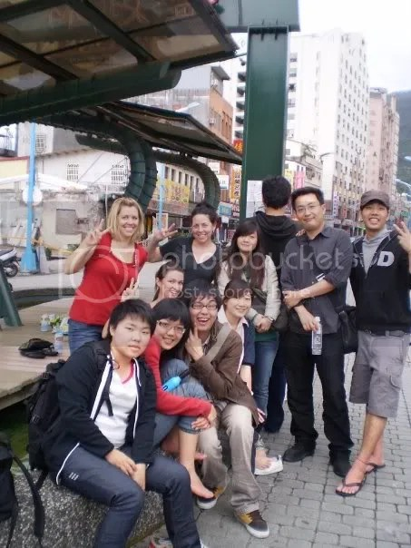 We made many friends while sitting around soaking our feet in the natural spring water just out front the train station.