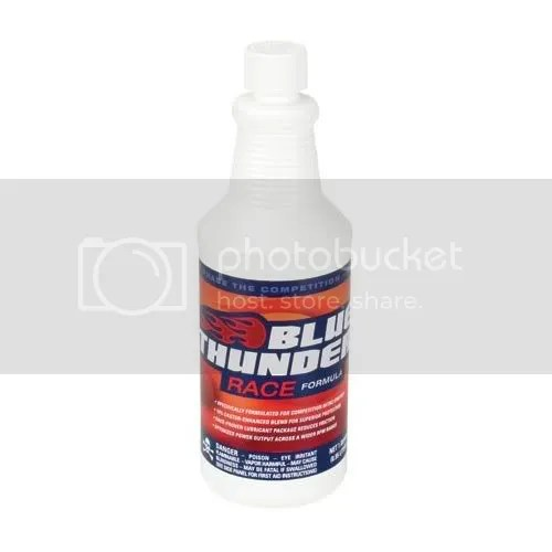 Blue Thunder RC car fuel