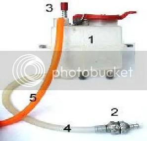 RC gas car fuel system