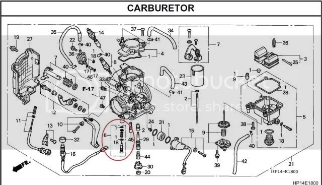 Honda foreman 450 carb adjustment