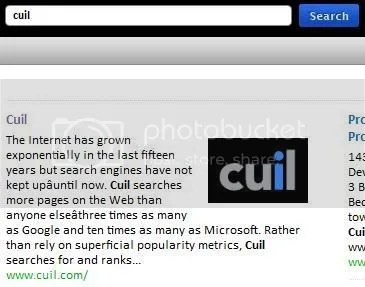 Cuil Appears on Cuil