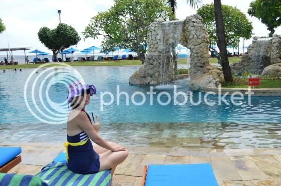 grace by pool
