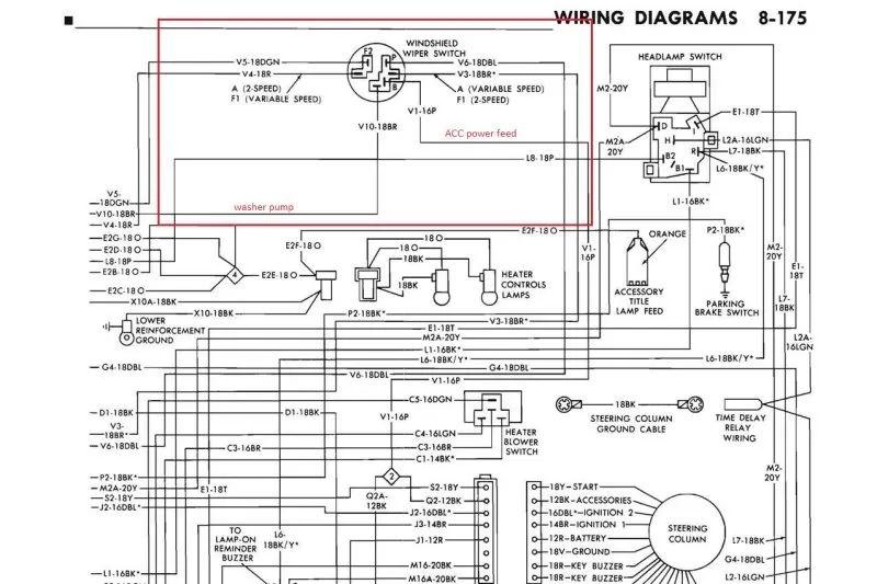 71 corvette wiper wiring diagrams