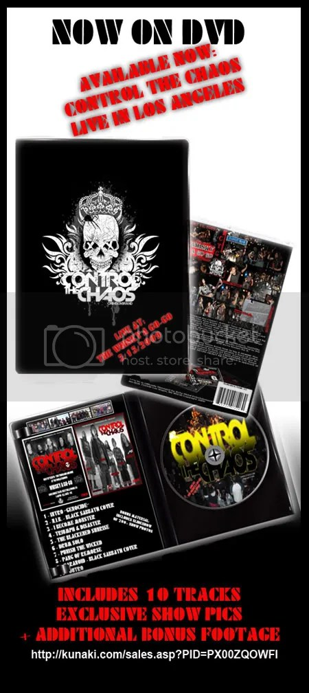 Control the Chaos,whisky a go-go,best,teen,metal,band,west coast,show,dvd,live,concert,vegas,heavy metal,Kunaki DVD Order