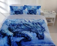 Stunning ICE Dragon Blue~DOUBLE Size Quilt Doona Cover Set ...