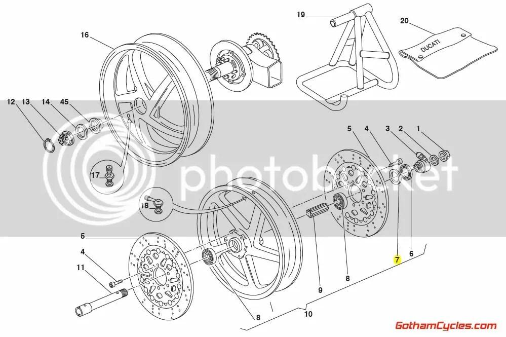 Ducati Speedometer Driver Washer Seal Ring 25mm SUPERBIKE