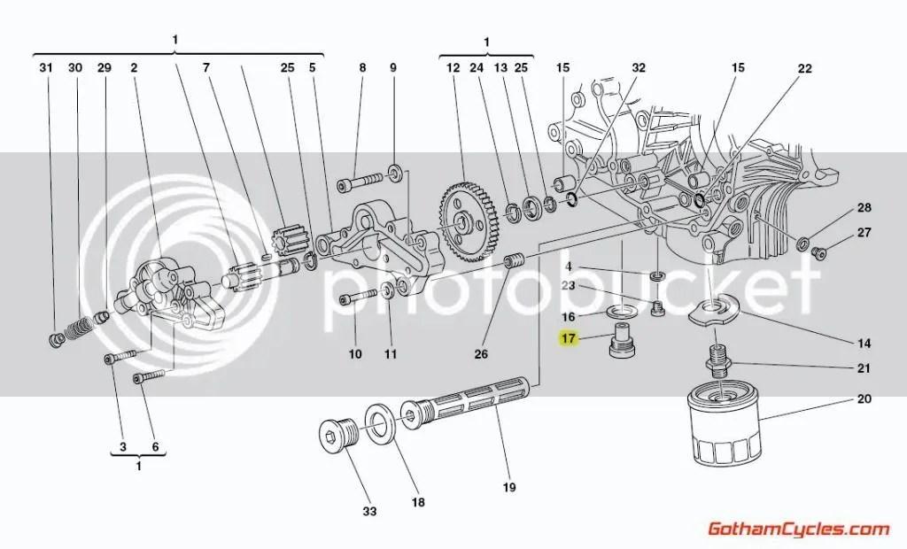 New OEM Ducati 10mm Magnetic Oil Drain Sump Plug Bolt Nut