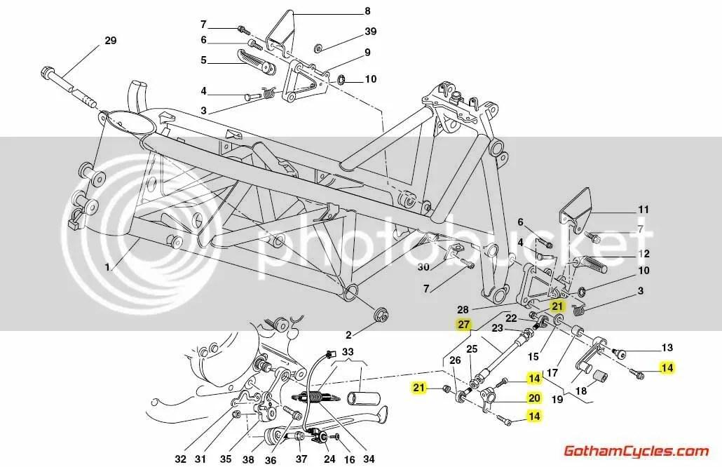 Ducati Shift Lever Linkage: 748-998 SUPERBIKE 748 748S