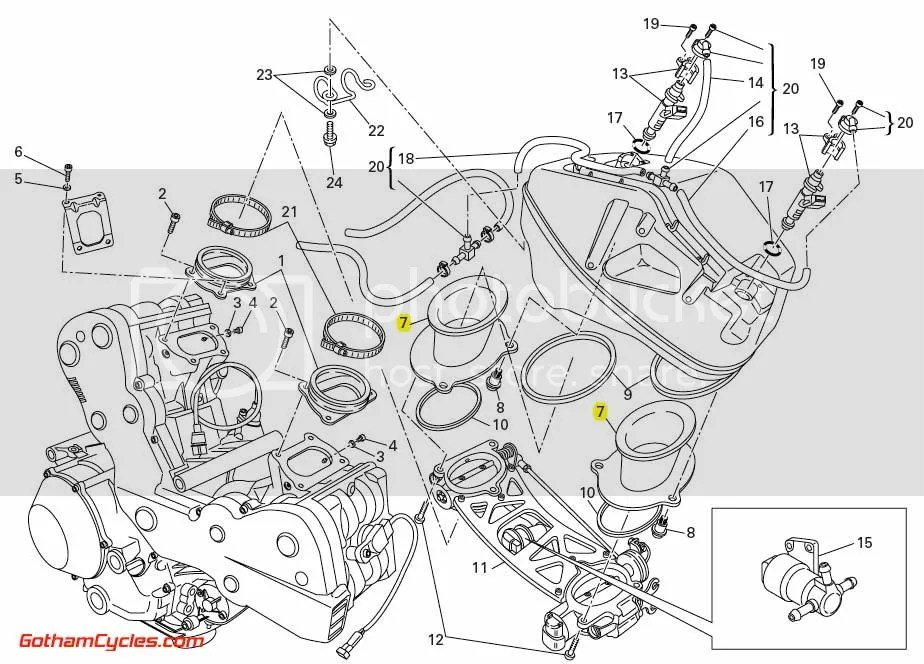 Ducati Intake Funnels: 1098R/1198/1198S/1198R SUPERBIKE