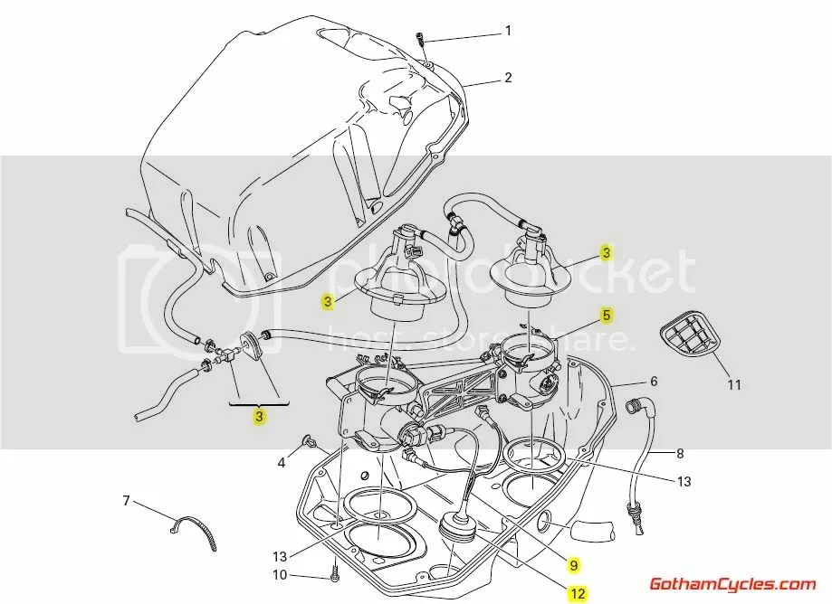 Ducati Throttle Bodies Fuel Injectors: 999 SUPERBIKE 999