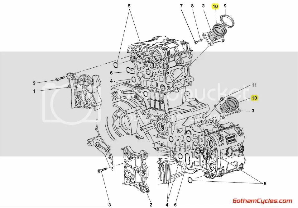 Ducati Intake Manifolds: 996R/998,999 SUPERBIKE 996R 998