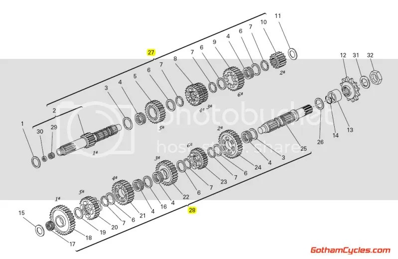 Ducati Transmission: 848-1098 SUPERBIKE 848 1098 1098S
