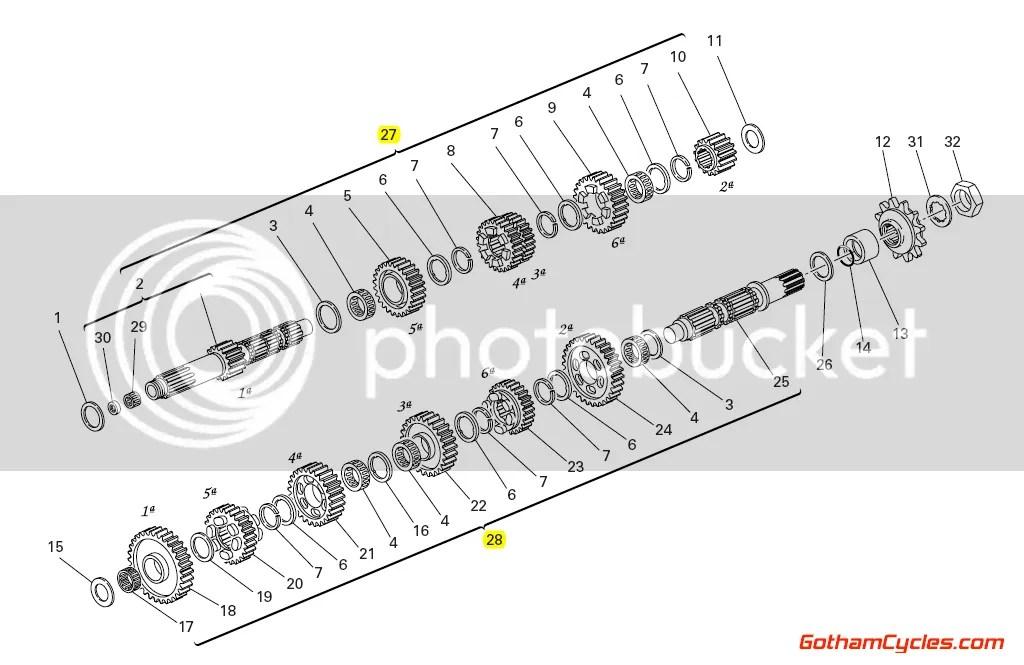 Ducati Transmission: Hypermotard, 1100 15021531A,15020632A