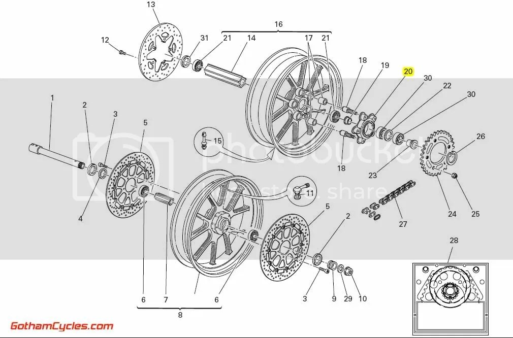 Ducati Rear Sprocket Carrier: 749/999 SUPERBIKE 749 749S