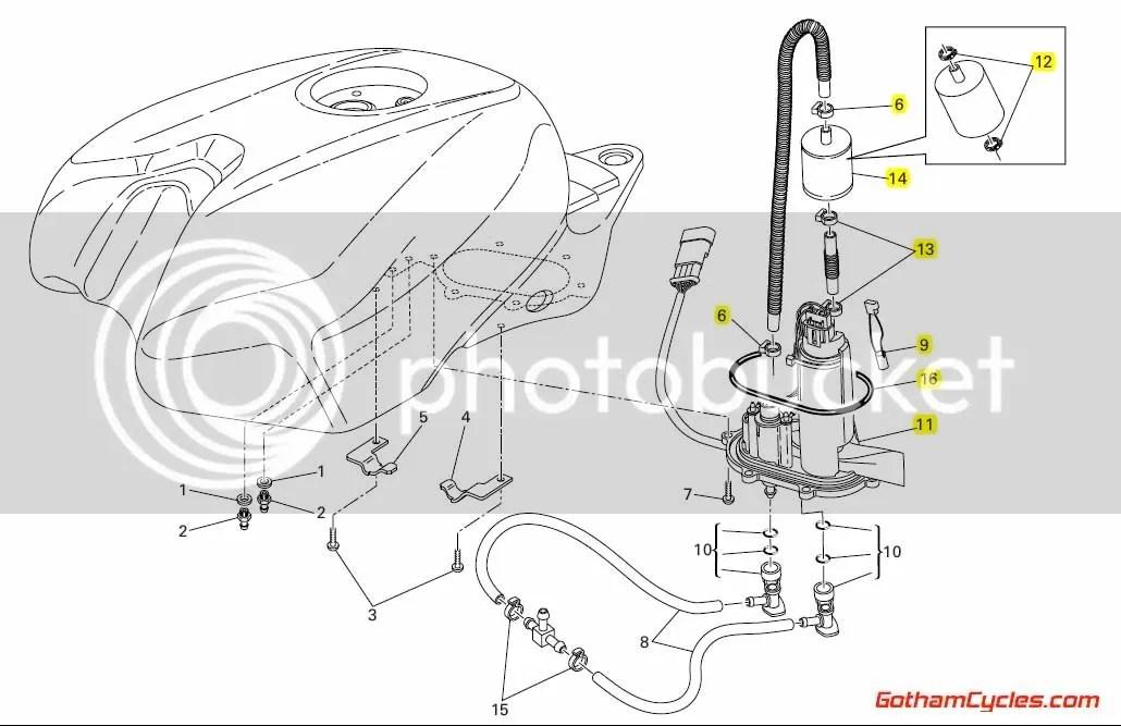 Ducati Fuel Pump Flange: 848/1098, SC SUPERBIKE 848 1098