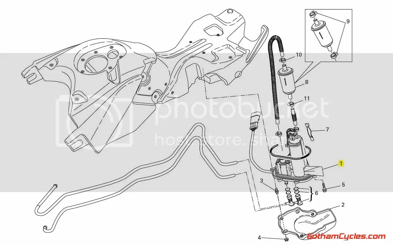 Ducati Fuel Pump Flange: Hypermotard 16023701A HYPERMOTARD