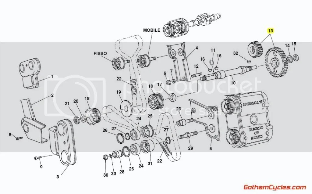 Ducati Timing Gears Early Style: 748-996,ST4 SPORTTOURING