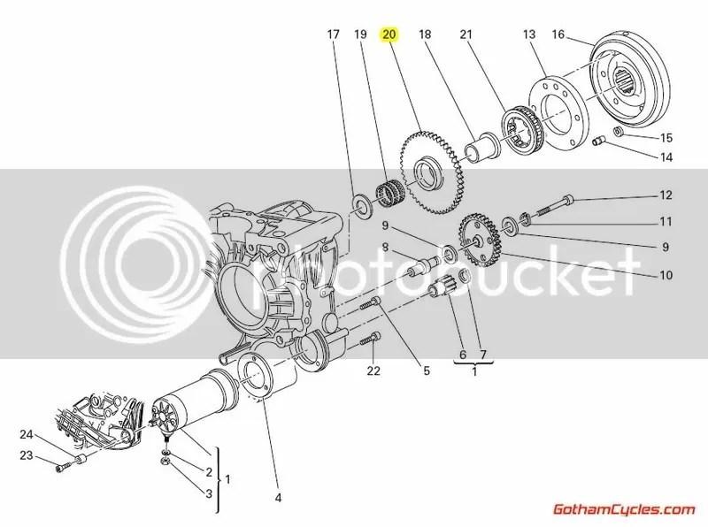 Ducati Starter Clutch Sprag Gear: 998R/749R/999R, MTS, ST3