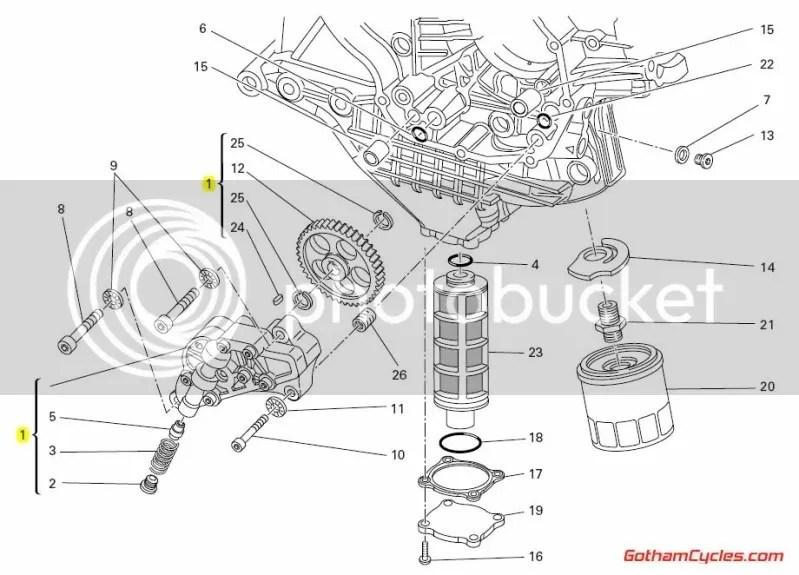 Ducati Oil Pump: 848-1098, HM, Monster 1100 SUPERBIKE 848