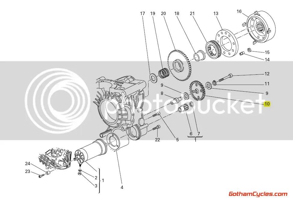 Ducati Starter Motor Idler Gear, Late Style 11 Tooth